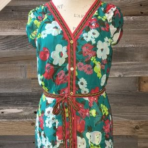 New York & Co button midi dress size M
